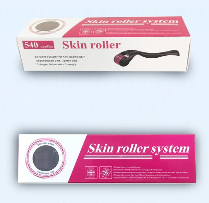 New Titanium Micro Needle Skin Roller 540 Needles skin care acne Scars removal beauty massager fast shipping