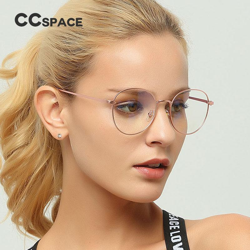 ab9afba85019 2019 CCSPACE Metal Oval Ladies Glasses Frames For Women Arrow Round ...