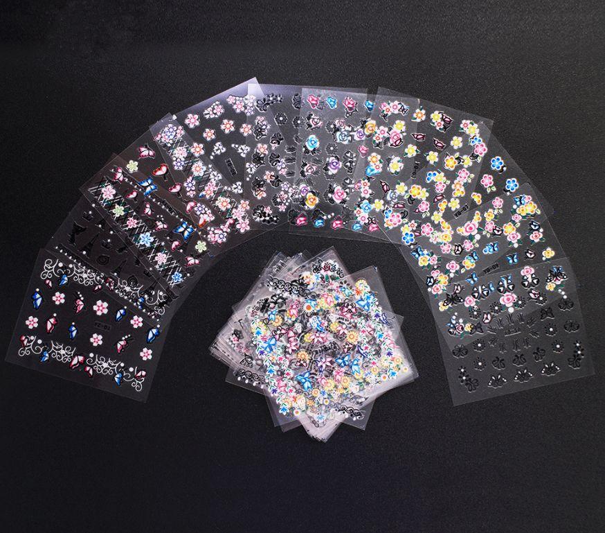 3D Mix Color Floral Design Nail Art Stickers Decals Manicure Beautiful Fashion Accessories Decoration