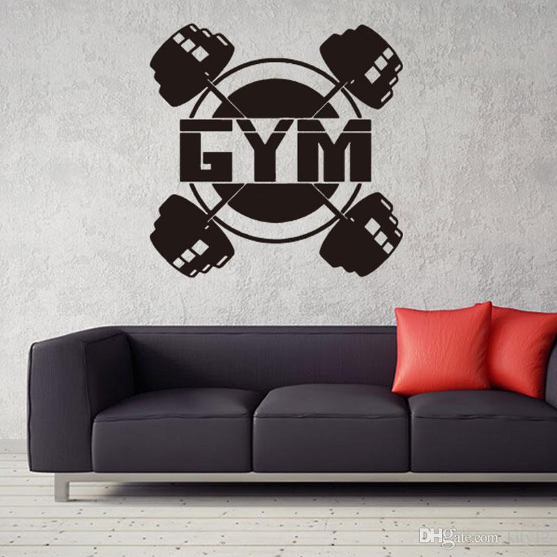 Hot sale work out gym home decor vinyl wall sticker sport women