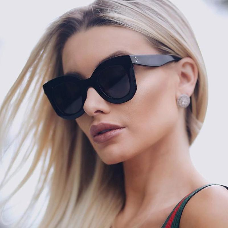 9e244c0ee60 2018 Cat Eye Oversized Ladies Sunglasses For Women White Red Big Frame  Female Sun Glasses Retro Oculos De Sol Feminino Shades Glasses For Men Mens  ...