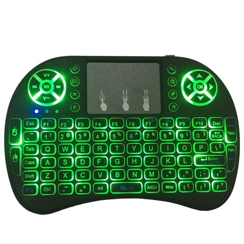 New Fly Air Mouse 2.4G Mini i8 Wireless Keyboard Backlit With Backlight Red Green Blue Remote Controller For PC Android TV Box PS3 Xbox360