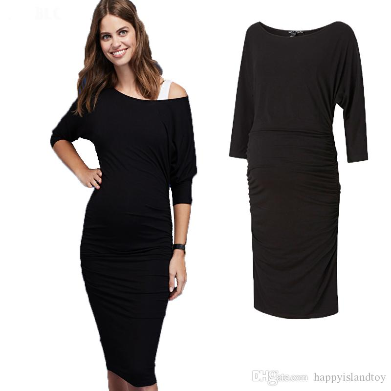 2020714c432 2019 European Size Maternity Clothes Casual Summer Maternity Dress For Pregnant  Women Knee Length Large Size Women Business Vestidos Outwear From ...