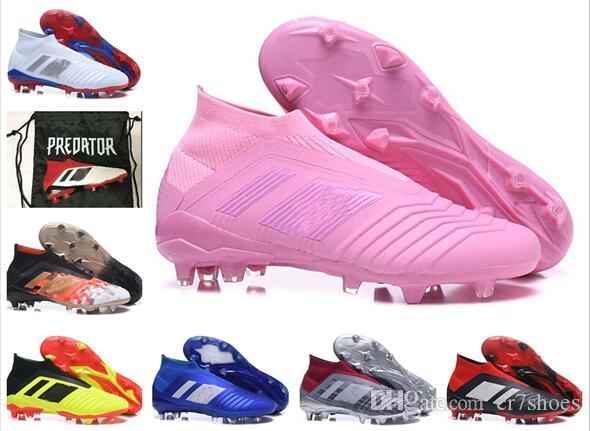 half off d1bc7 eca27 2019 High Ankle Youth Football Boots Predator 18+X Pogba FG Accelerator DB  Kids Soccer Shoes PureControl Purechaos Cleats Women Box And Bag From  Cr7shoes, ...