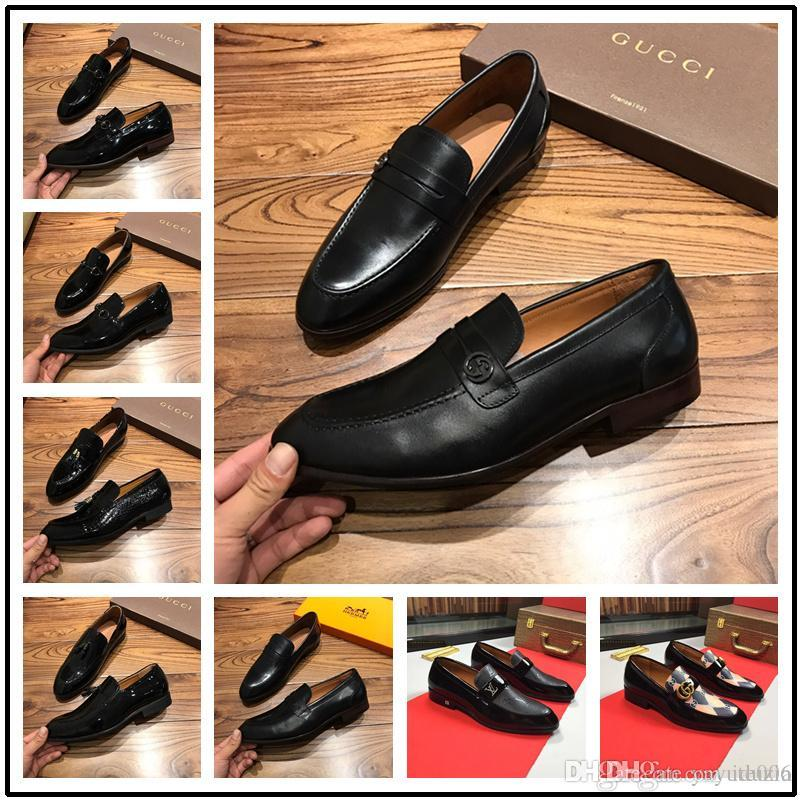 96ae383008 19ss Mens Genuine Leather Dress Shoes High Quality Italian Design And Hand  Polished Men Shoes Mens Slippers Footwear From Iduzia