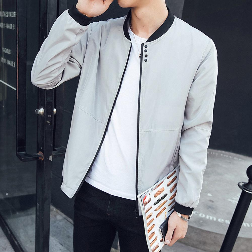 0479cd58c2e7d 2018 Brand New Stylish Adults Boys Men's Slim Fit Padded Bomber Jacket Bike  Motorcycle Coat Zip Outwear Streetwear