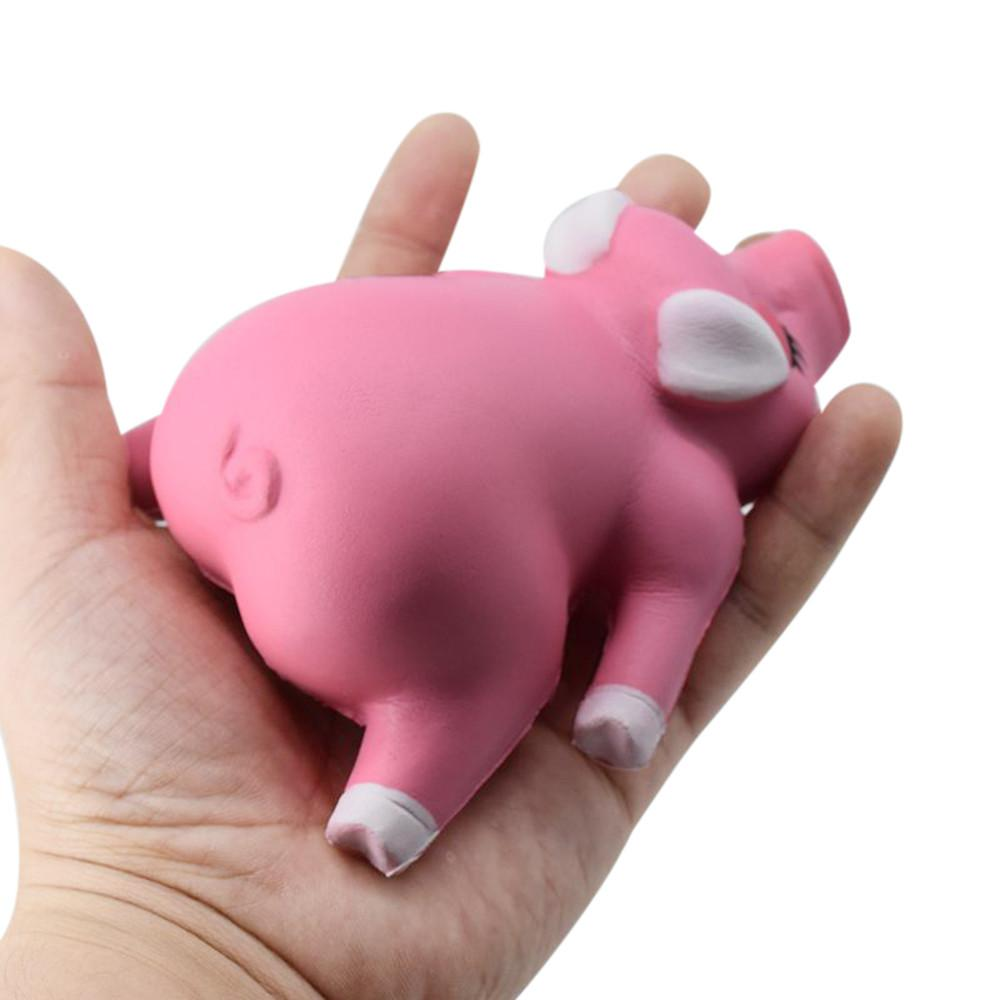 12CM Jumbo Pig Scented Super Slow Rising Kids Stress Anxiety Toy Cute For Child Adult Attention Cell Phone Strap Pendant Toy