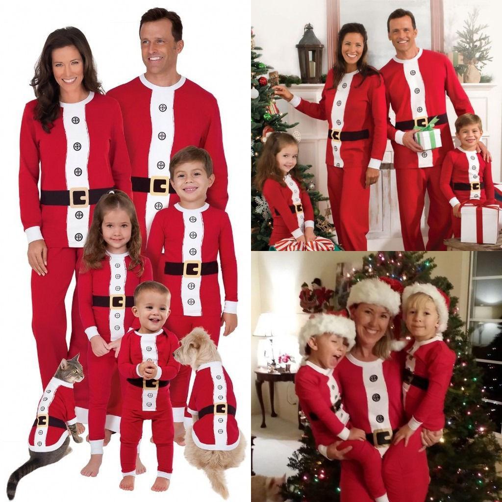 554d852598fe Xams Santa Family Matching Pajamas Clothing Set Adult Kids Women ...