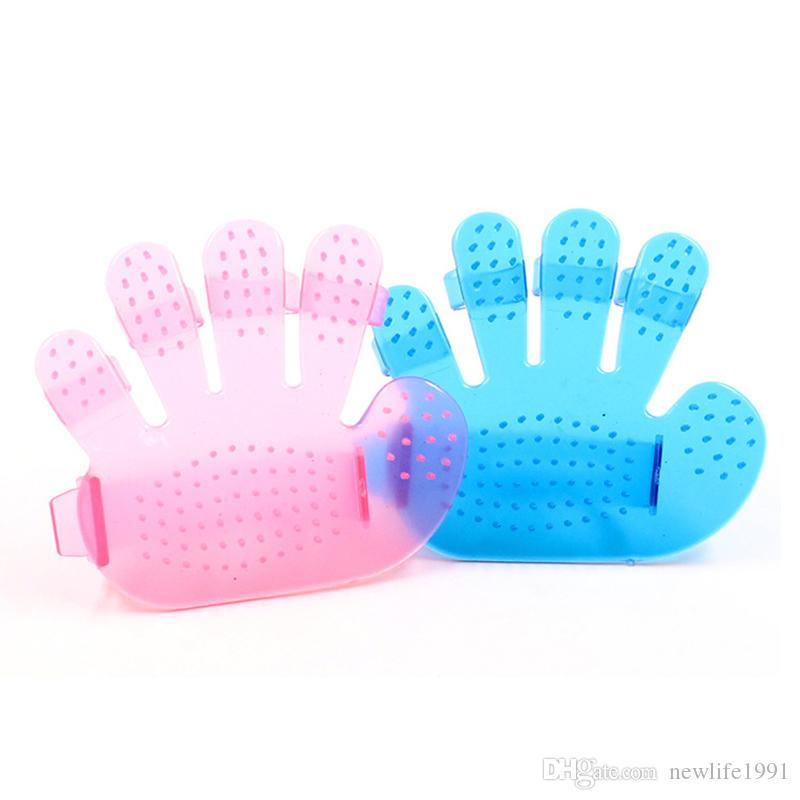 Palm Five Finger Brush Pet Beauty Bathing Massage Brushes Dog Puppy Shower Hair Cleaning Brush Pets Bath Gloves Free Ship