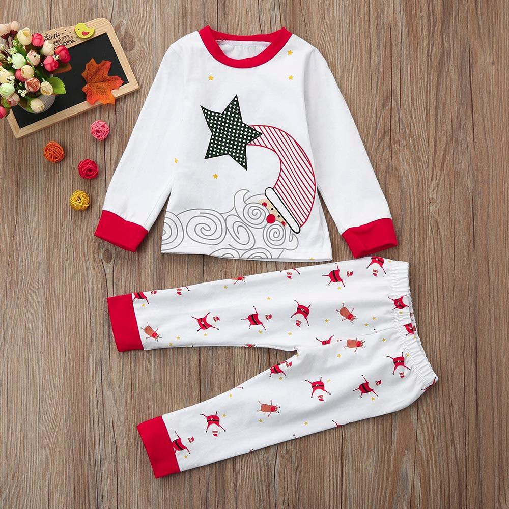 2018 Christmas Newborn Infant Baby Boys Girls Santa Claus Print Tops ...