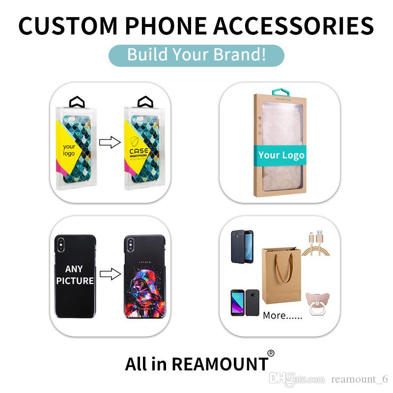 Wholesale Universal Hard Paper Box Custom LOGO Printing Package for Mobile Phone Case for iPhone X 7 Plus Luxury Gift Box
