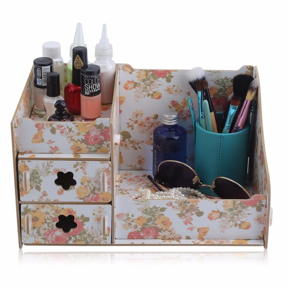2018 Durable Wooden Jewelry Box Handmade Makeup Storage Case Large Cosmetic  Holder Make Up Organizer Portable Cosmetic Wood Box From Luzhenbao524, ...