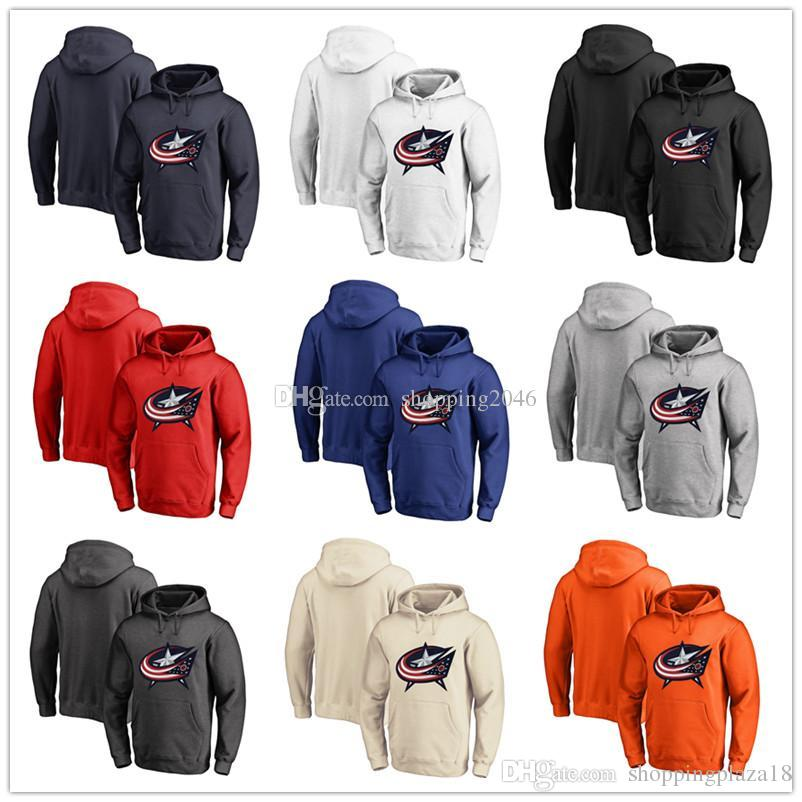 e8f0451823e 2019 Men S Columbus Blue Jackets Fanatics Branded Black Ash White Red  Orange Embroidery Primary Logo Pullover Hoodies Long Sleeve Outdoor We From  ...