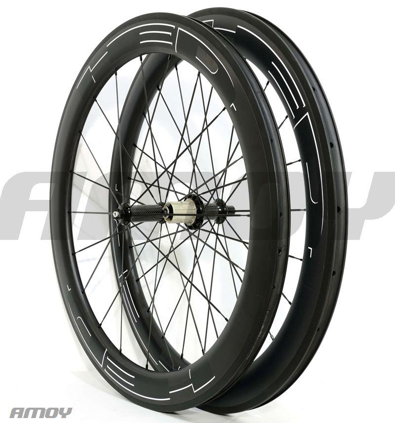 Envío gratis 23mm ancho HED pintura negra 38/50/60/88 mm ruedas de bicicleta de carbono ruedas de bicicleta de carbono de carbono completo 700C