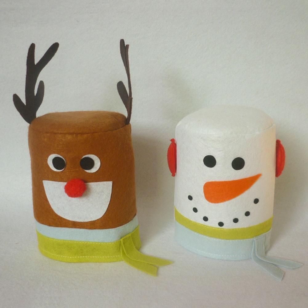 Compre Lote Feliz Natal Boneco De Neve E Elk Papel Higiênico Rolo