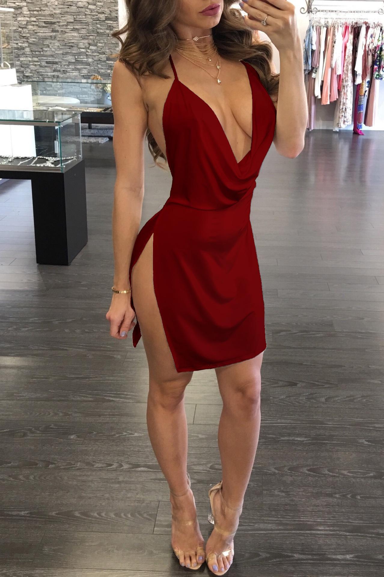 cae26c93e72 Summer Women Lace Dress Sexy Backless V Neck Beach Dresses 2018 Fashion  Sleeveless Spaghetti Strap White Casual Mini Sundress W6 Cocktail Wear For  Women ...