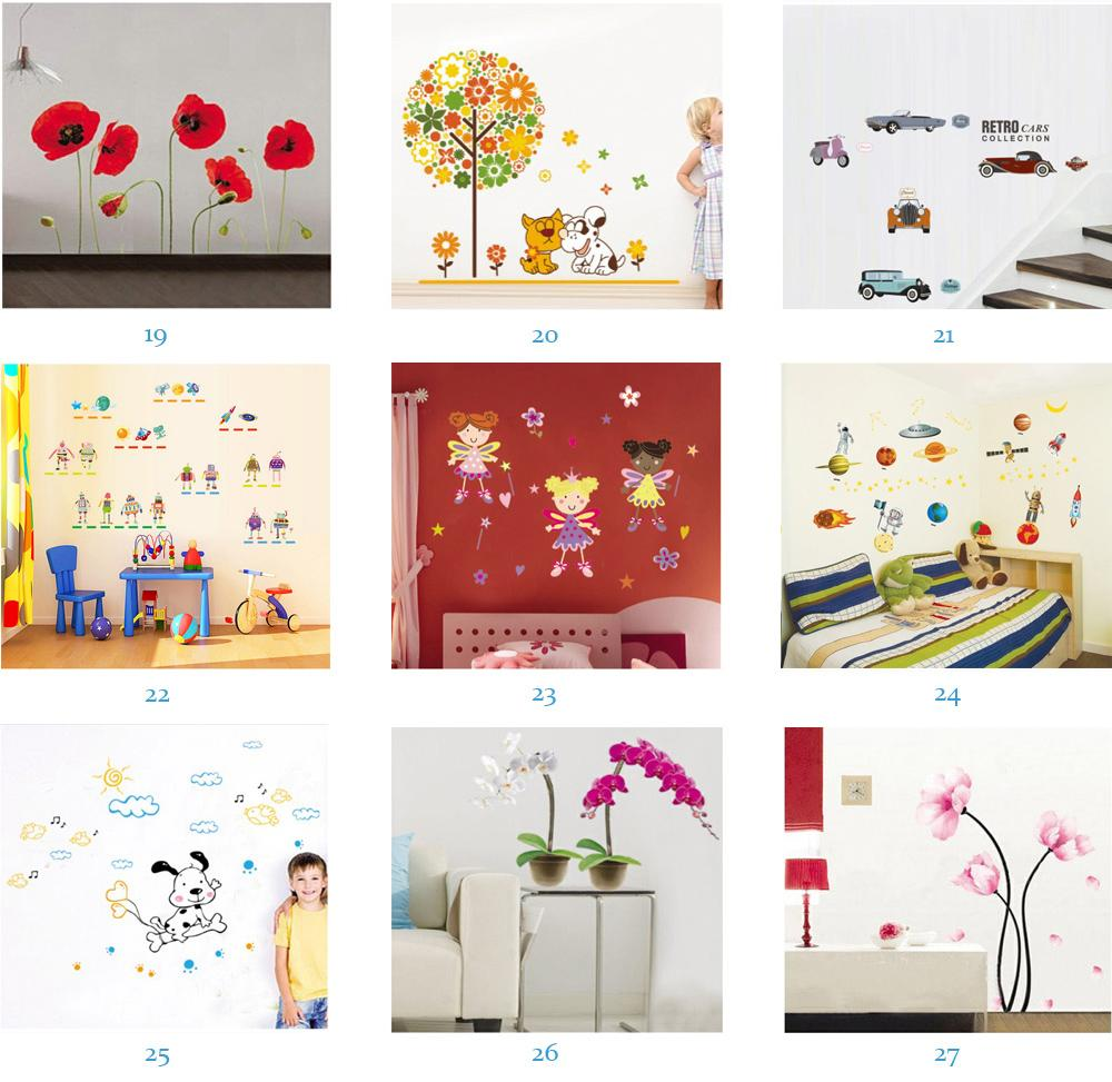 Wholesale Removable Home Decals Kids Room Wall Stickers Nursery Wall Decor 50x70cm Wall Art