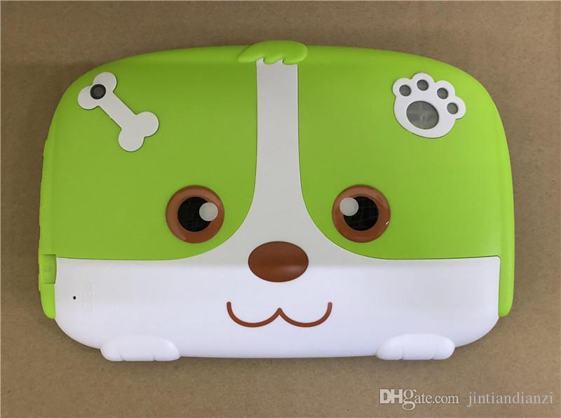 "2019 Kids Brand Tablet PC 7"" 7 inch Quad Core children Cute cartoon dog tablet Android 6.0 Allwinner A33 google player 1GB RAM 8GB ROM"