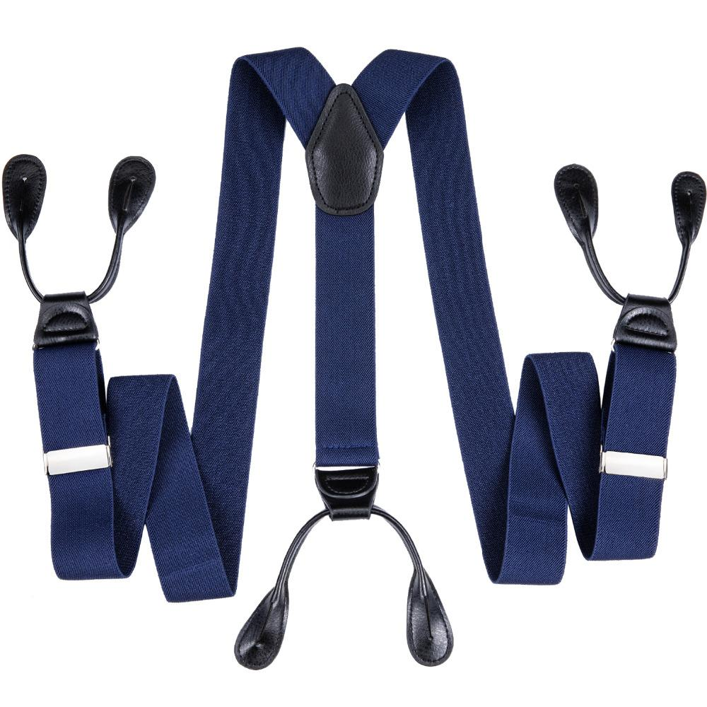7480dd473954 DiBanGu 6 Botones Tirantes Hombre Tirantes Tirantes Elásticos Ajustables  Bretelles Tirantes Para Hombres Boda Formal 3.5 * 125cm JZ-14