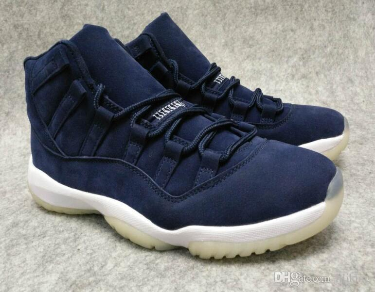 new style 6c755 8c0b1 2018 Wholesale High Quality Jeter 11s Sd Deerskin Prm Derek Re2pe Jeter  Blue Ct Basketball Shoes With Box Men From Liliking, $51.44 | Dhgate.Com