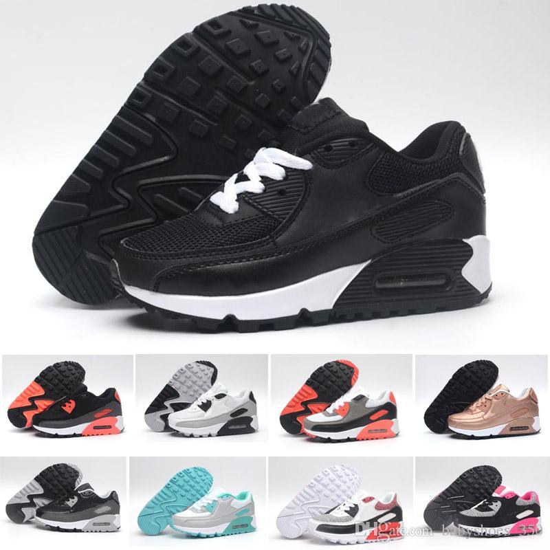 e319b5a1f9 Купить Оптом Nike Air Max 90 Детские Дети Кроссовки Воздуха Tavas Кроссовки  87 90 Boost 350 Детская Спортивная Обувь Мальчики Девочки Beluga 2.0  Кроссовки ...