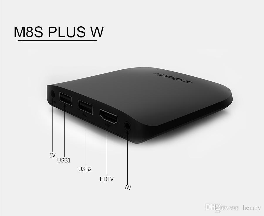 Mecool M8S PLUS W Android 7.1 1G 8G 2.4G WIFI 4K TV Box Amlogic S905W IPSTB HDMI DHL