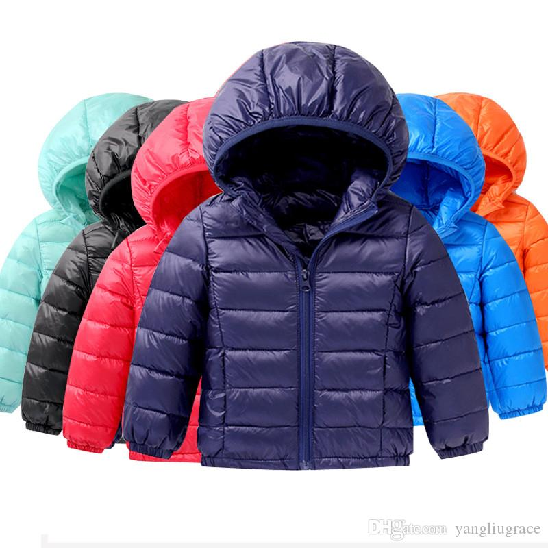 1d2b9acf356d Baby Winter Jackets Light Kids White Duck Down Coat Baby Jacket For Girls    Boys Parka Outerwear Hoodies Puffer Coat Kids Down Coats Boys Down Coat  From ...
