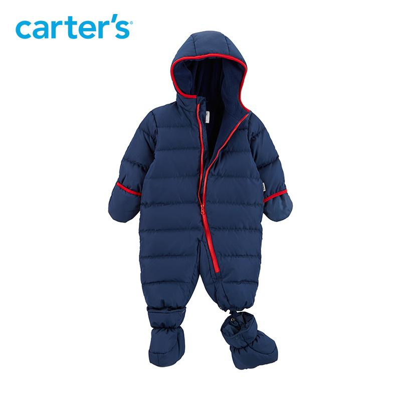 5ae0506c3 Seamless Overalls For Boys Blue Red Hooded Snow Wear Baby Boys ...
