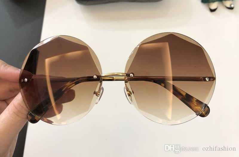 Compre Chanel Aro Sem Moldura Redonda Óculos De Sol Itália Marca Designer  Homens Mulheres Óculos Ocasionais 2018 New Eyewear UV400 Gradiente Óculos  Gafas De ... d615326f16