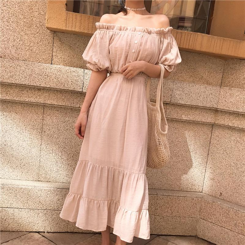 444442bee911 2019 Two Piece Set Top And Skirt Women Sexy Off Shoulder Crop Tops + Maxi  Long Skirt Ruffle Sets Mujer Vestidos Robe Femme Ete 2018 From  Shuangyin1998, ...