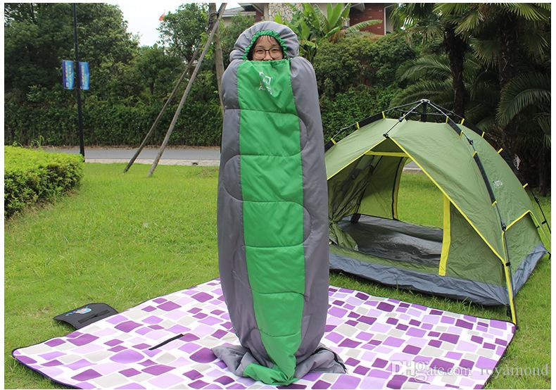 Outdoor thickened sleeping bags can be spliced adult spring and autumn siesta sleeping bags widened extended camping equipment at 6106