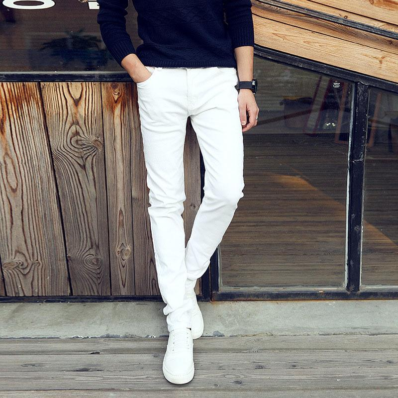 554118edb08 2019 Fashion 2018 Summer Casual Thin Youth Business White Stretch Jeans Pants  Male Teenagers Trousers Skinny Jeans Men Leggings S913 From Ruiqi03