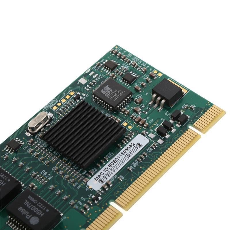 PCI Dual RJ45 Port Gigabit for Ethernet Lan Network Card 10/100/1000Mbps For Intel 82546 #H029#