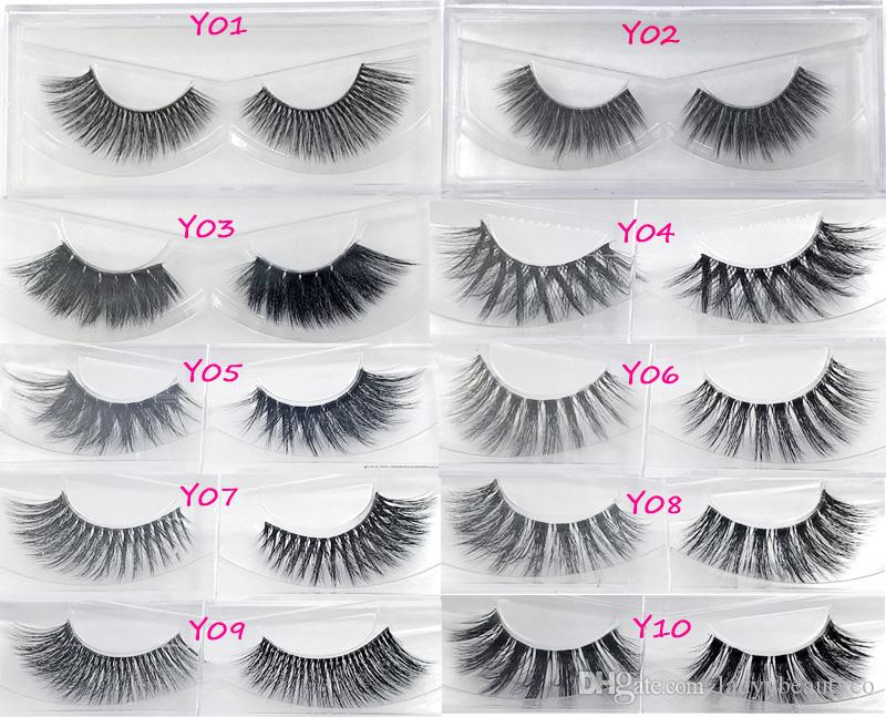 3d False Eyelash 3d Strip Silk Lashes Thick Fake Faux Eyelashes