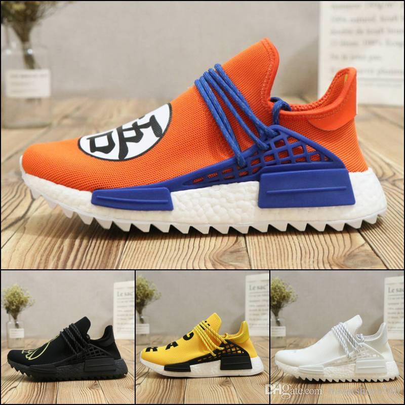 Human Race Sports Shoes Pharrell Williams Hu Trail NERD Men Womens Running Shoes White Noble Ink Core Orange Sneaker Size 36-44 free shipping low cost authentic cheap price timjnXh
