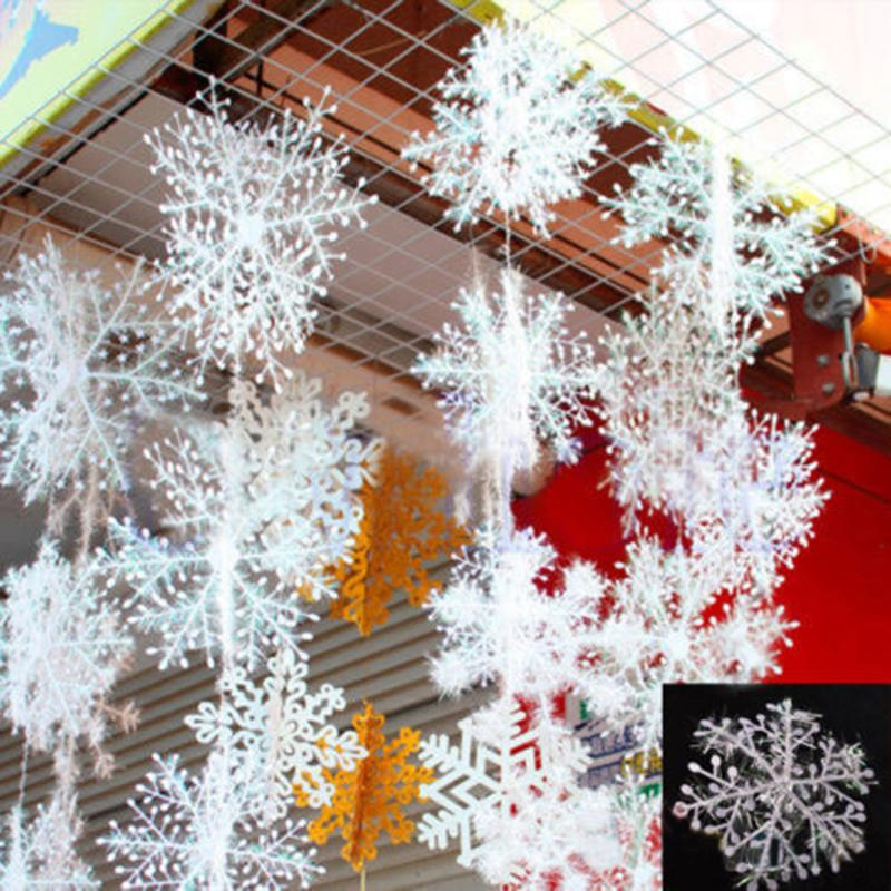sale xmas classic charming white snowflake party holiday christmas ornaments home decor outdoor christmas decoration outdoor christmas decorations from - Classic Outdoor Christmas Decorations