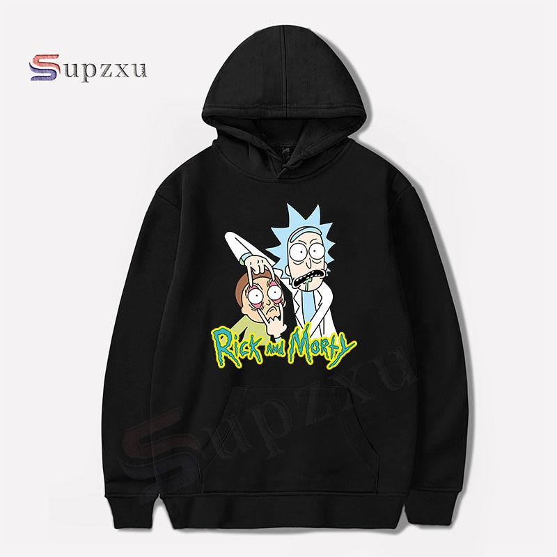 0fea06052 2019 2017 Autumn Hip Hop Hoodies Men Fashion Cool Rick Morty Brand Pullover  Printing Turtleneck Sportswear Sweatshirt Tracksuits From Banwanyue10, ...