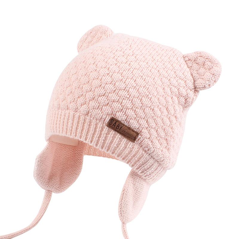 Bear Ears Cute Baby Hat Soft Cotton Newborn Baby Beanie Double Layer Warm Winter Hat For Baby Girls Boys Knitted Kids Hats New (14)