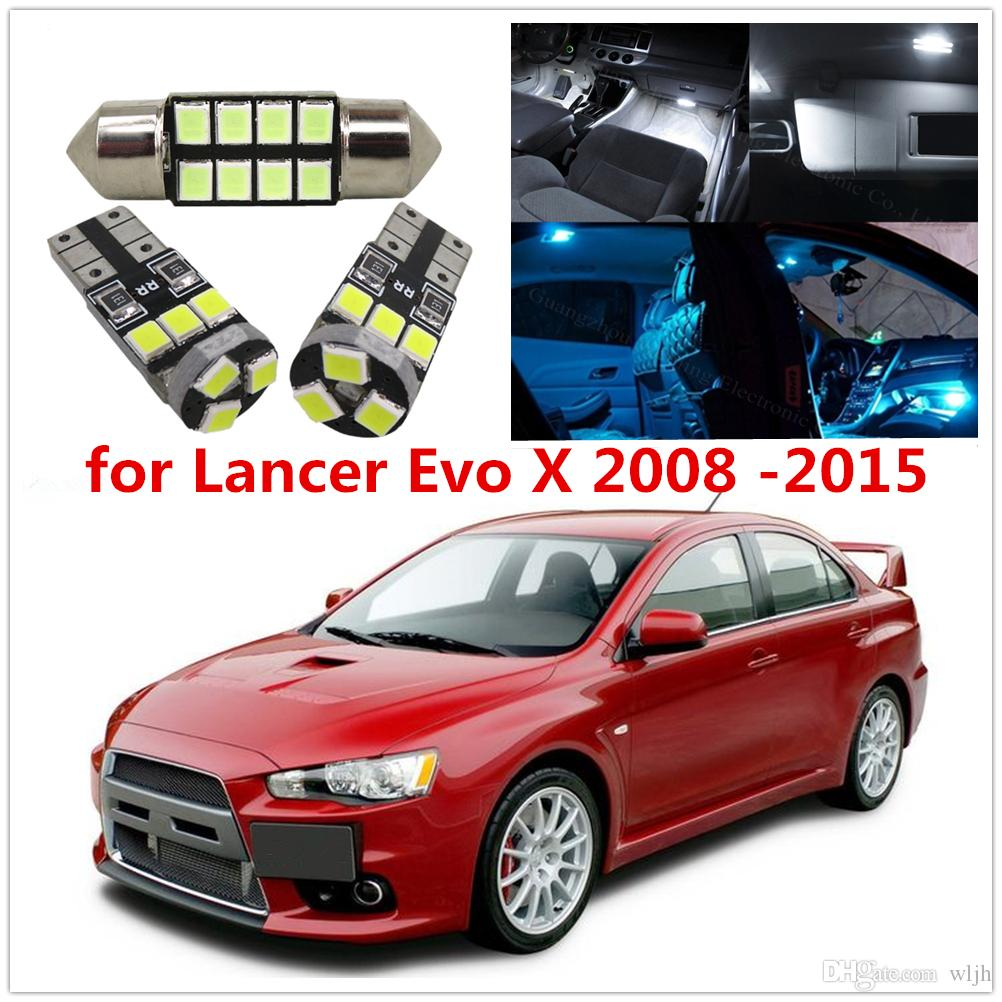 2018 Wljh 6x Car Led 2835smd T10 Lamp Bulb Interior Light Dome Map Trunk  License Plate Light Package For Lancer Evo X 2008 2015 From Wljh, $3.85 |  Dhgate.