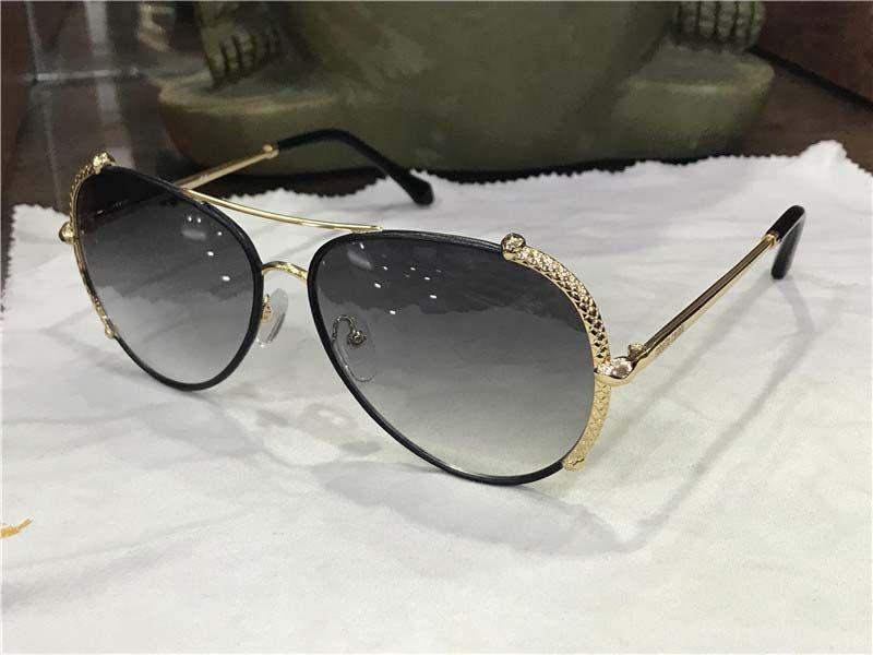 f5101c992f New Fashion Women Designer Sunglasses Metal Pilot Leather Snake ...
