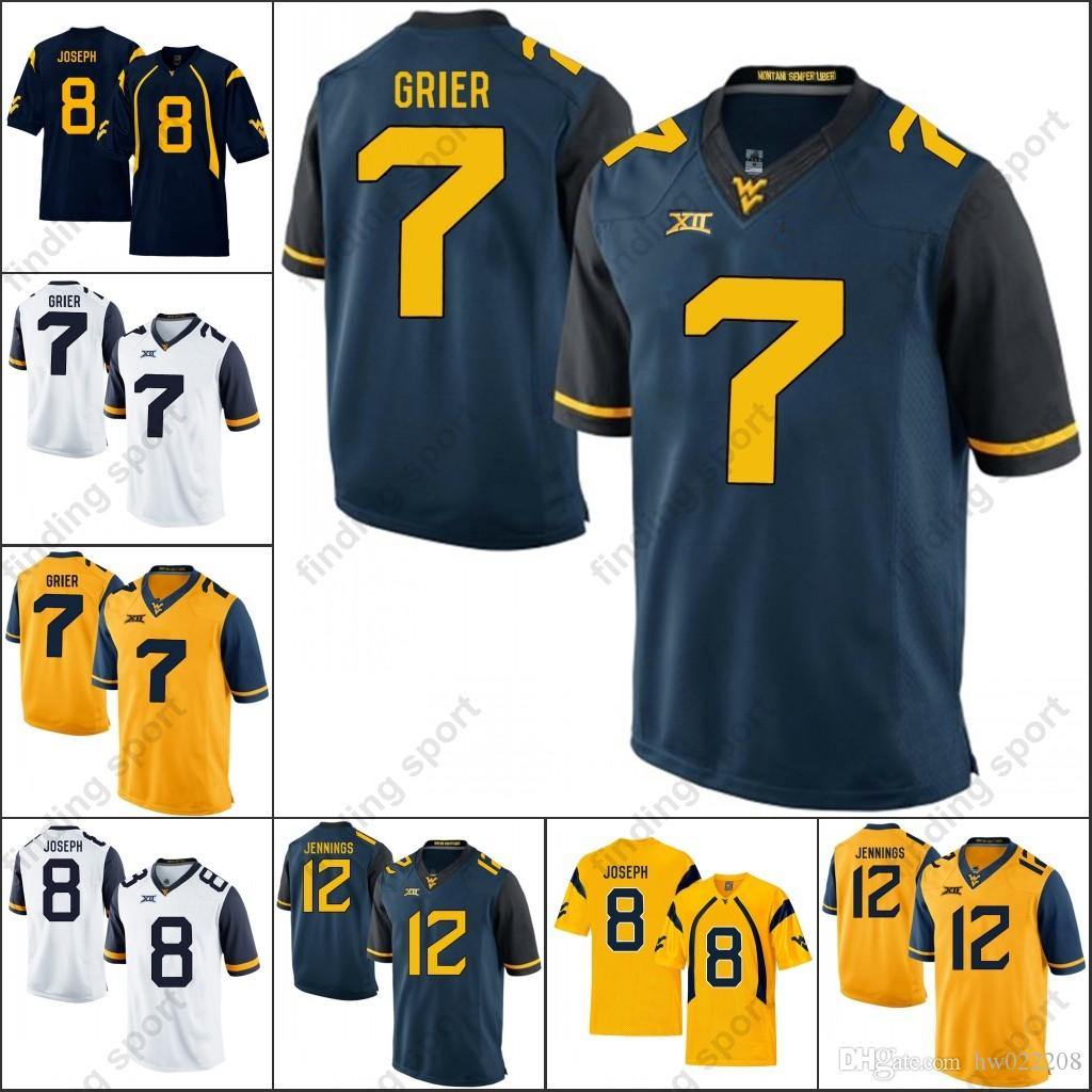 2019 NCAA WVU College Football Jerseys West Virginia Mountaineers Elijah  Drummond Roberson Jr. Matt Jones Marcus Simms Adam Jones Will Clarke From  ... a5122353a