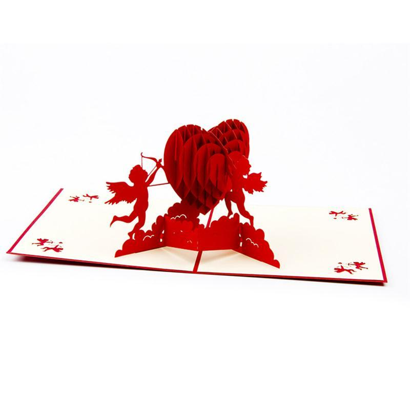 Cupid 3D Pop Up Greeting Card Handmade Gift For Birthday Wedding Anniversary Merry Christmas ValentineS