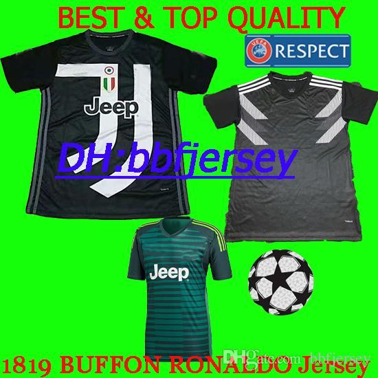 c890a9449fb 2019 Thailand Soccer Jerseys 2018 2019 Goalkeeper Buffon HIGUAIN DYBALA  RONALDO Jerseys MANDZUKIC Juventus Commemorative Edition Football Shirt  From ...