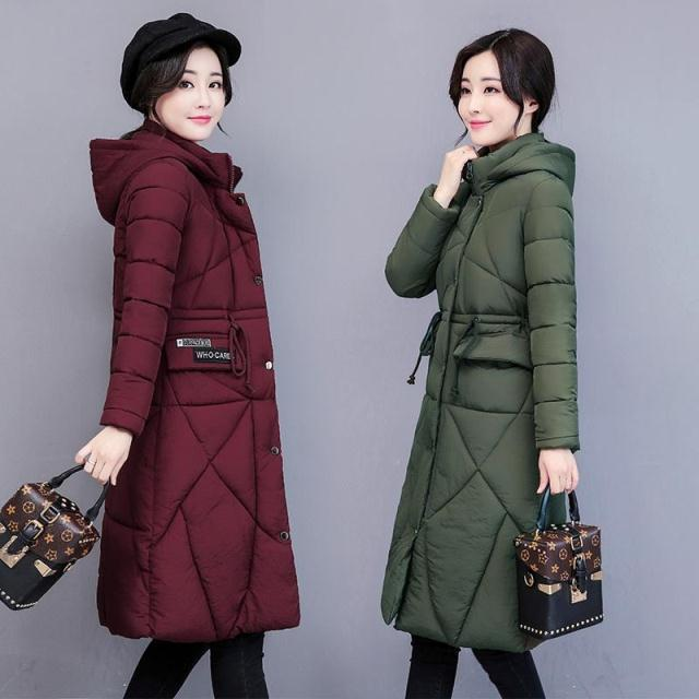 1d6caf003e7d 2019 2018 New Thick Womens Down Surcoat Hooded Cotton Wadded Winter Warm  Surcoat Big Fur Slim Long Casual Fashion Jackets 3XL From Sandyluo0325