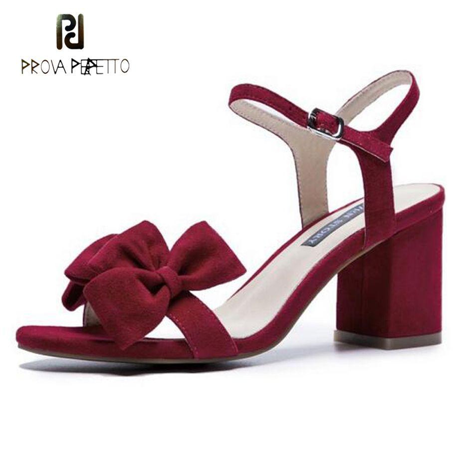 Talon De En Rouge Gros Couleur Carré Daim Femmes Soirée 5cm Dame Boucle Robe Noeud Chaussures 6 Papillon Sandales Bracelet Solide Mode w8PkXn0O