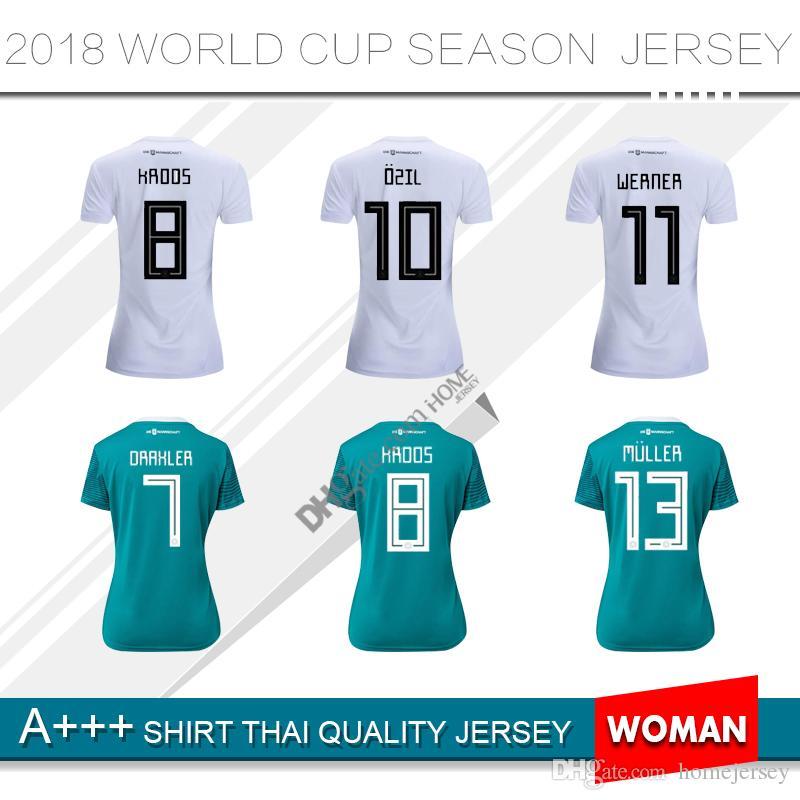 74737f6e 2018 Germany home Jersey MULLER DRAXLER OZIL KROOS Soccer Jerseys 2018 2019  woman AWAY GOTZE HUMMELS WERNER HECTOR Football Shirts