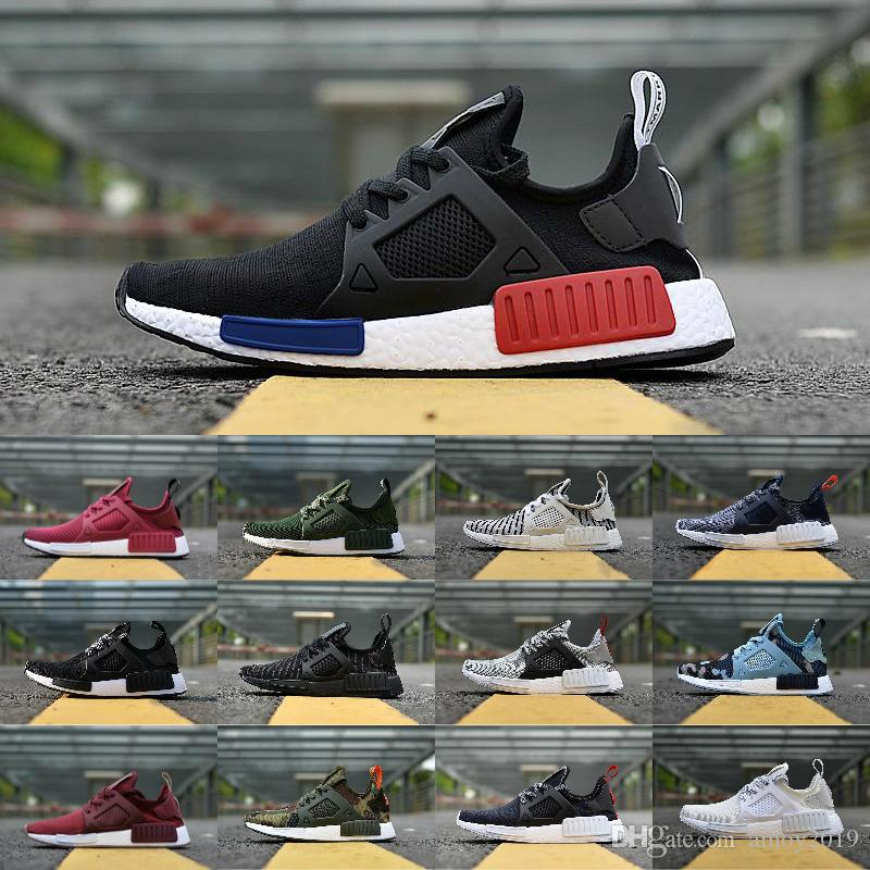 a1dea0c17 2018 NMD XR1 Primekint Blue White Captain America Men Women Running Shoes  Sports Designer Sneakers Olive Green Nmds XR1 PK Mens Trainers Walking Shoes  Trail ...