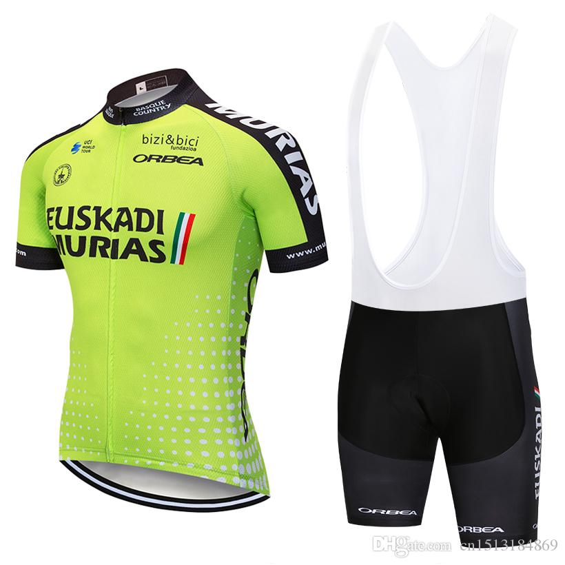 Cycling Jersey 2018 Pro Team Euskadi Summer Short Sleeve Bicycle Clothing  Ropa Ciclismo Quick Dry MTB Bike Jersey Cycle Bib Shorts Kit Euskadi Cycling  ... f68df7042