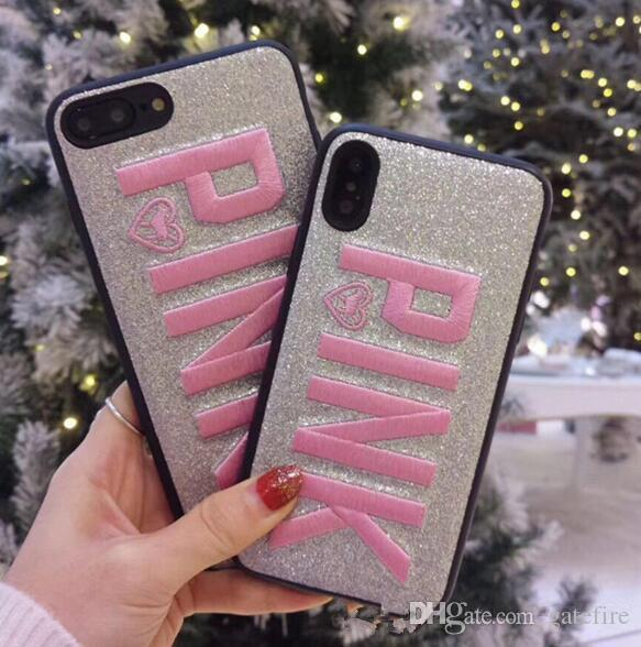 fashion design glitter 3d embroidery love pink phone case for iphonefashion design glitter 3d embroidery love pink phone case for iphone x, iphone 8, 7, 6 plus best cell phone cases top rated cell phones from gatefire,