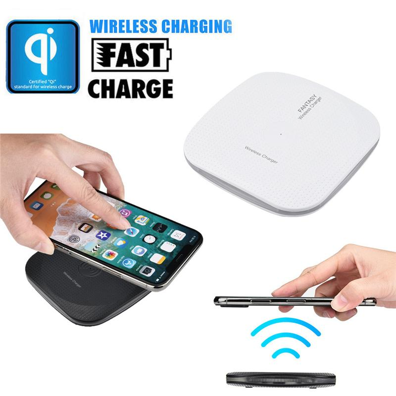 Portable Mini Acrylic Square QI Wireless Charger Charging Pad Mat for  iPhone 8/8 Plus/X For Samsung Galaxy S7 S8 S9 Fast Wireless Charger
